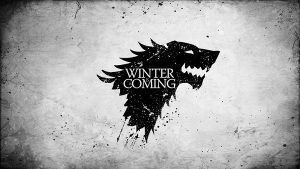 Game of Thrones banner Wolves Monochrome